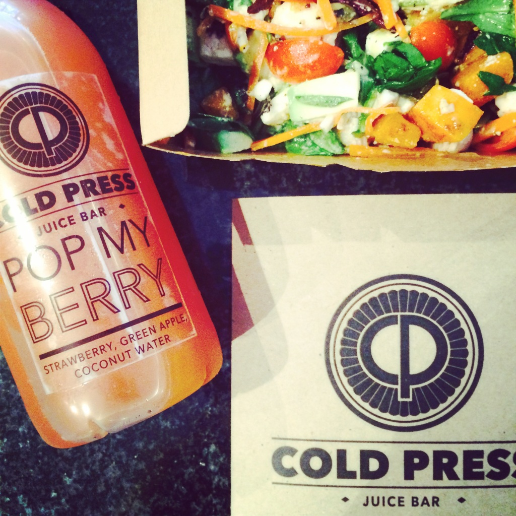 Cold Press salad and juice