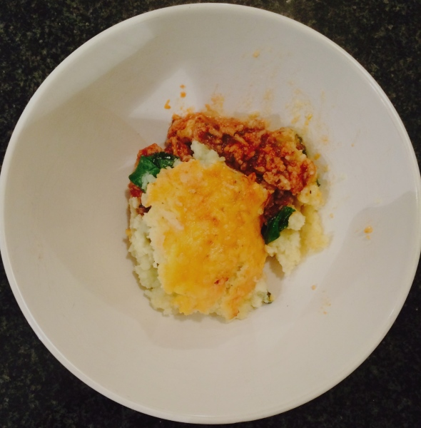 Low-Carb, Banting friendly Mincey Cauli Mash