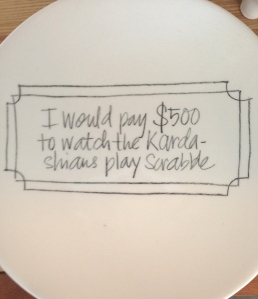Plates at Superette - for sale and to serve