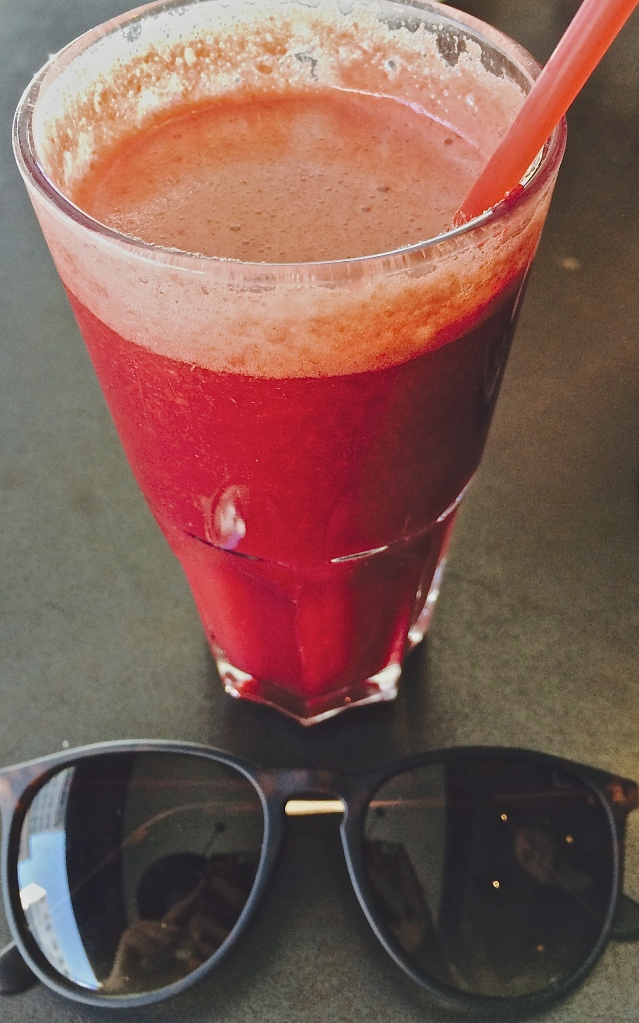 Beetroot, Apple and Pear juice at Jason Bakery in Bree Street