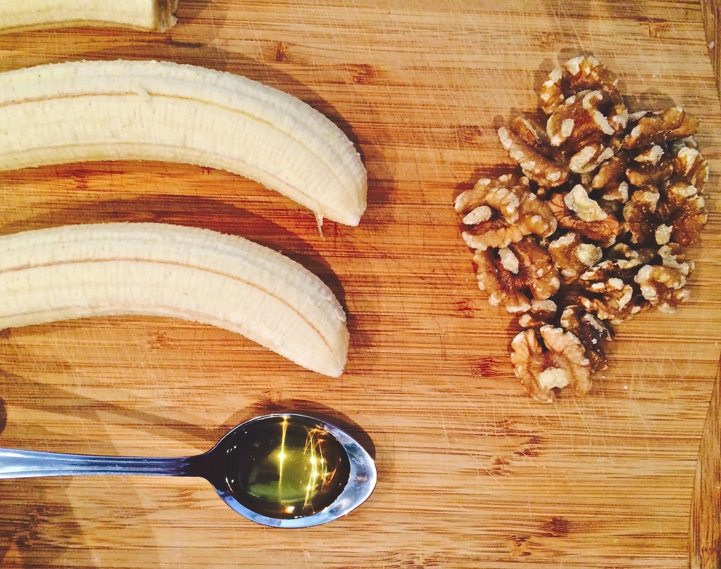 ingredients for the Gluten-free, Sugar-free banana and walnut muffin recipe: inspired by Jessica Sepel
