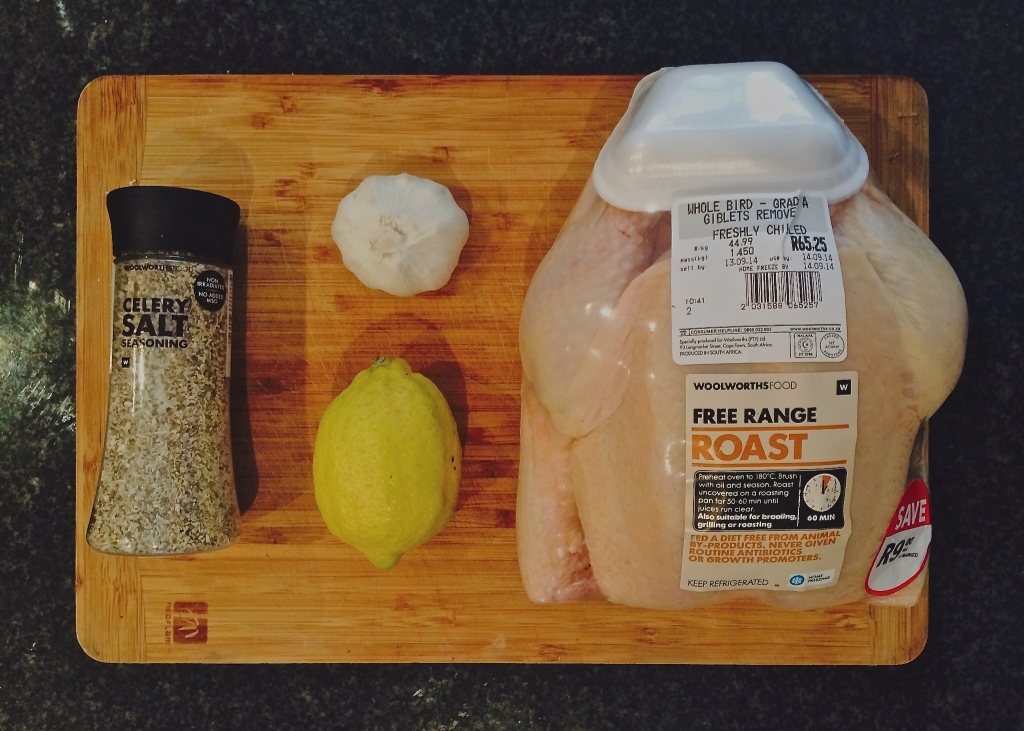 Ingredients for a simple, healthy roast chicken