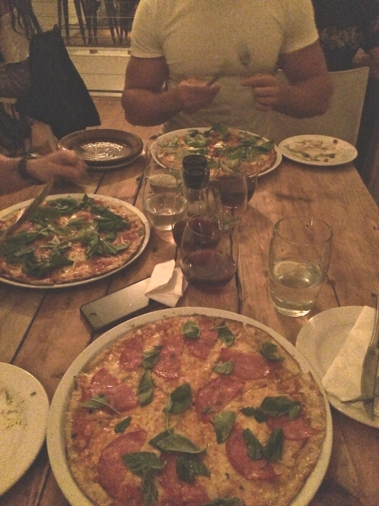 Cauliflower pizzas and tapas at Chalk and Cork