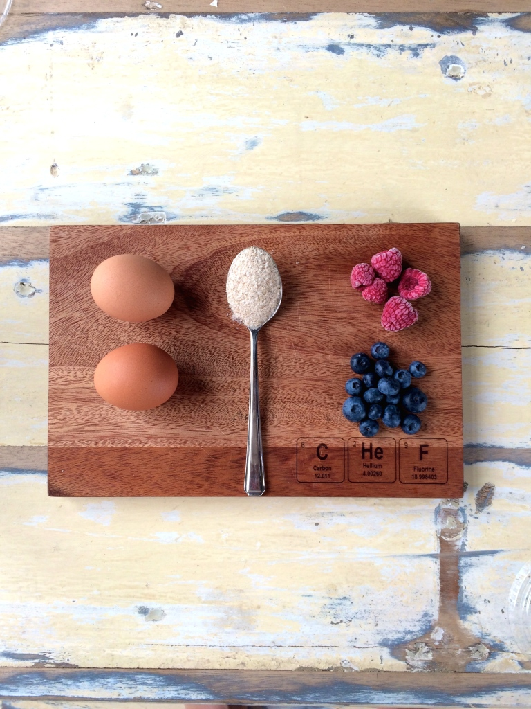 Ingredients for  sugar-free Sweet Berry Omelette on food blog Cape Town